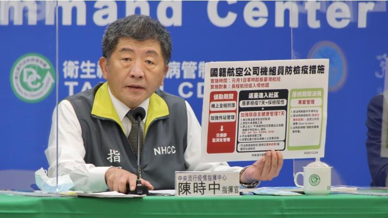 強化國籍航空公司防疫 自1月1日起實行進行查核機制